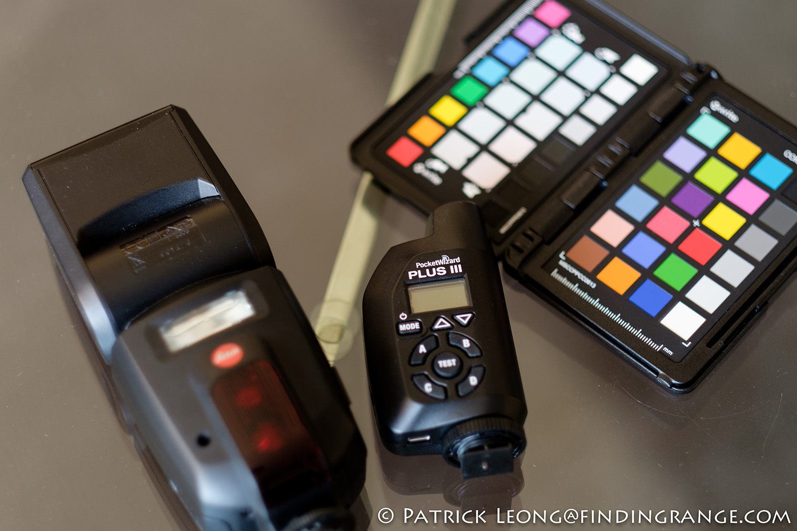 Leica-SF-58-Flash-Pocket-Wizard-X-Rite-Color-Checker-Passport