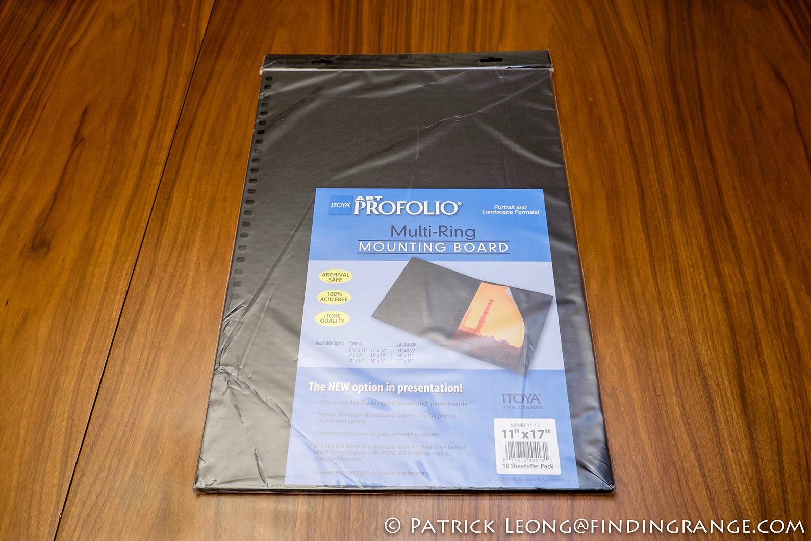 itoya art profolio multi ring mounting board review