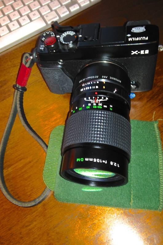 Fuji-X-E2-Fujinon-135mm-f2-SLR-Lens-Fotodiox-Adapter-1