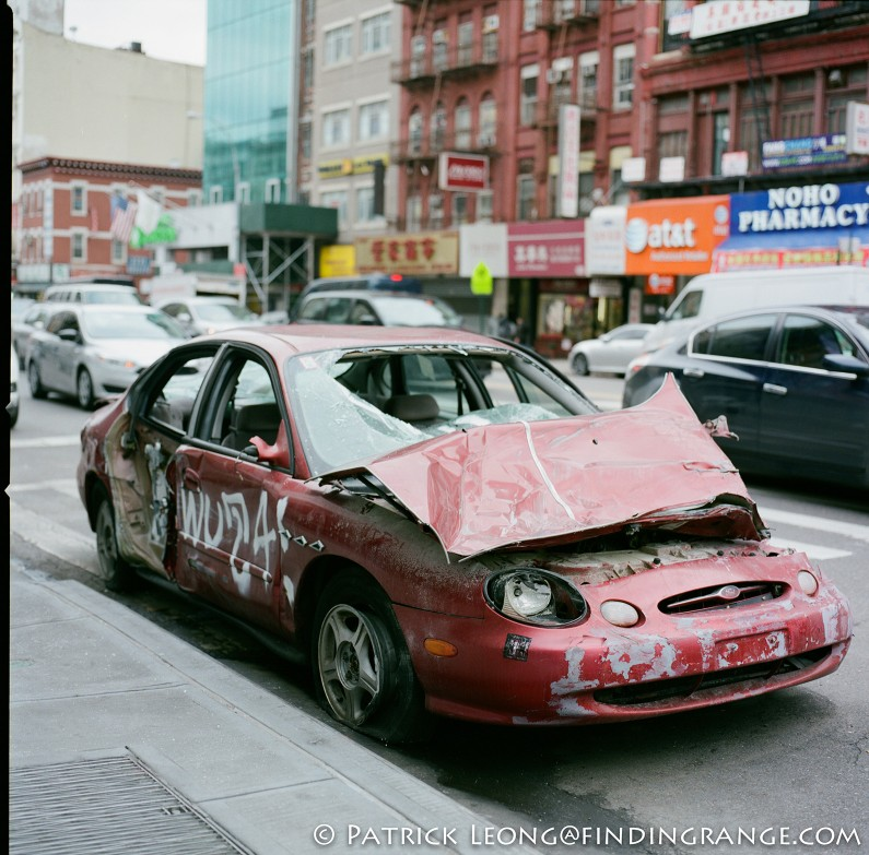 Hasselblad-503CW-Millennium-80mm-Planar-F2.8-Abandoned-Car-New-York-City-Fuji-Pro-400H