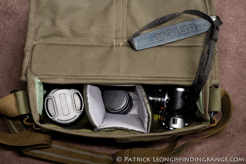 Domke-F-803-Olive-Drab-Camera-Satchel-Shoulder-Bag-Inside-Main-Compartment-Leica-M-System