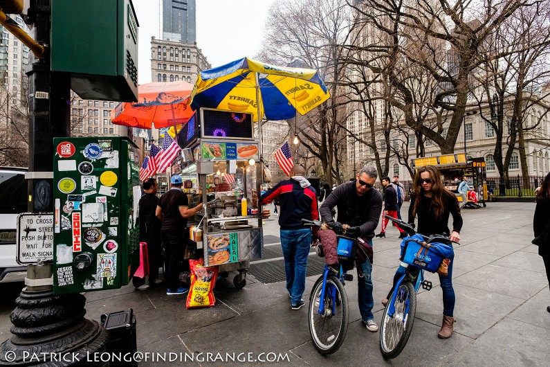 Fuji-X-Pro2-Zeiss-12mm Touit-F2.8-City-Hall-Biker-Food-Cart-New-York