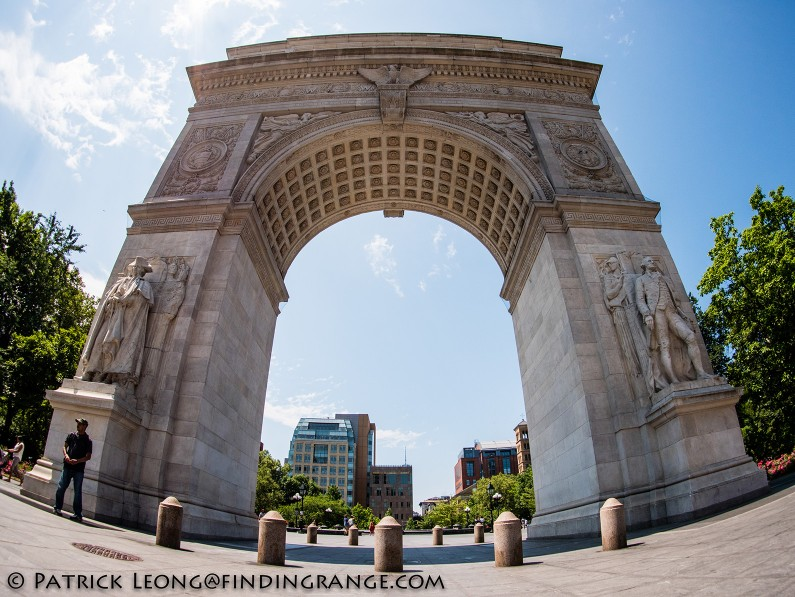 Panasonic-Lumix-GX85-Olympus-9mm-f8.0-fisheye-body-cap-lens-Washington-Square-Arch