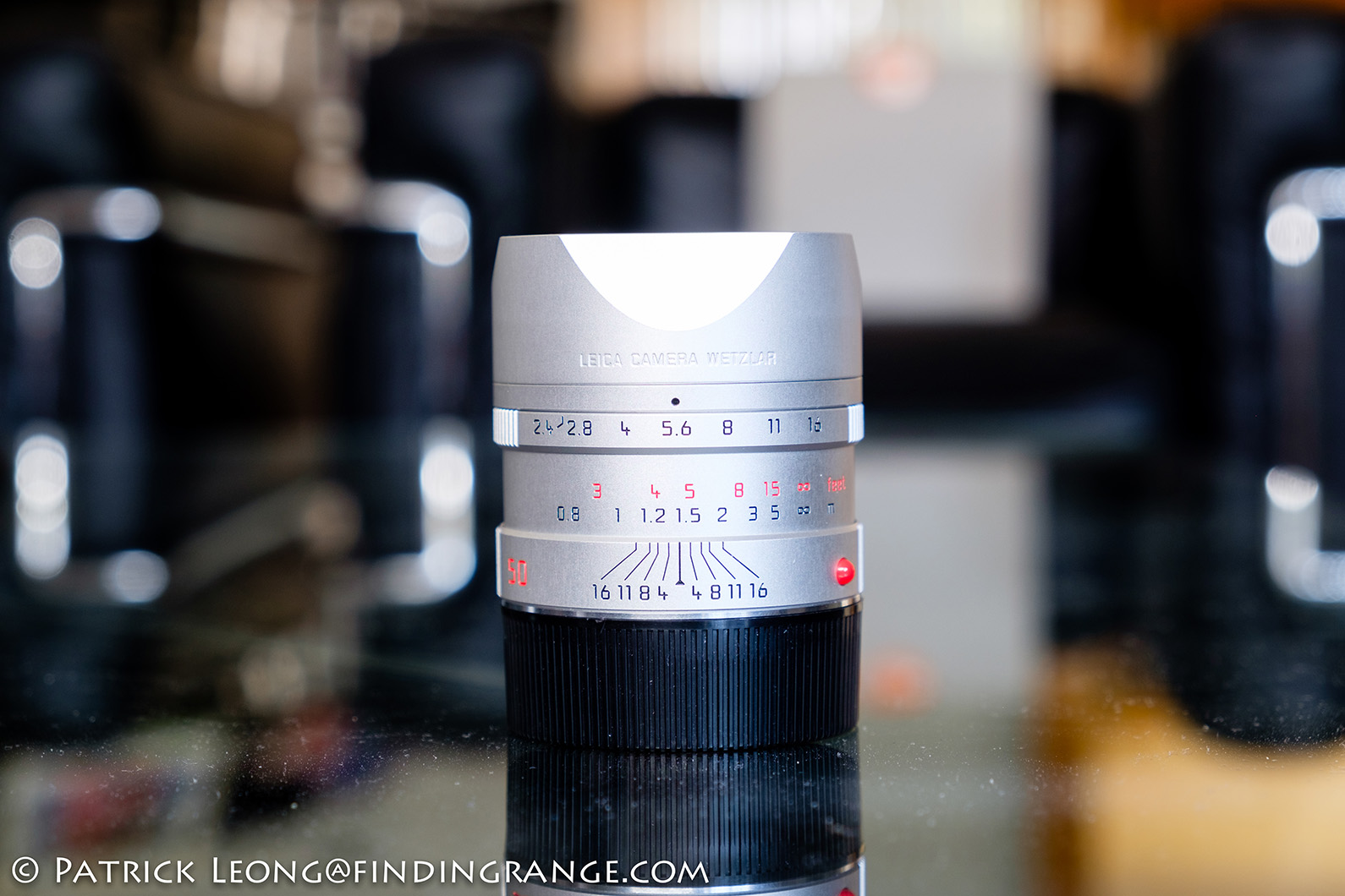 Leica Hood for 75mm f//2.4 /& 90mm f//2.4 Lens Silver